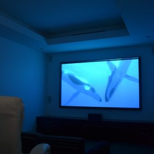 Home cinema in operation