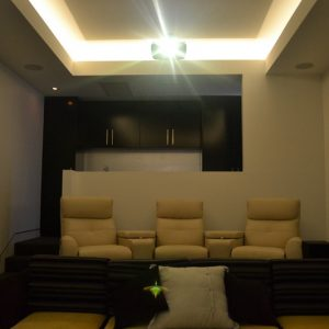 Home Cinema front view