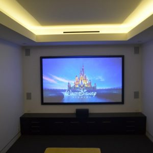 16:9 120″ Fixed Frame cinema screen